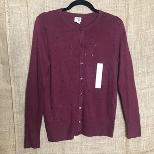 A new day Cardigan S New Maroon Red Sweater Fall